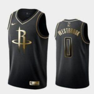 Houston Rockets Russell Westbrook 0 Black Jersey